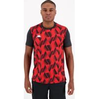 Camisa Kappa Tré Masculina - Masculino-Vermelho