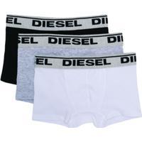 Diesel Kids Conjunto 3 Cuecas Com Logo - Cinza