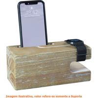 Suporte Para Iphone Watch Em Madeira Cor Driftwood - 50867 - Sun House