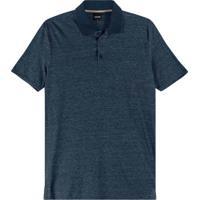 Camisa Azul Marinho Polo Tradicional Rajada
