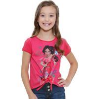 Blusa Infantil Manga Curta Princesa Elena Disney