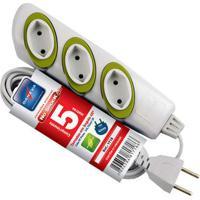 Extensão Elétrica No Schock 5M 3 Tomadas 2P 10A 250V Dn1718 Daneva