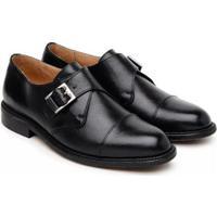 Sapato Social Couro Jacometti Confort Masculino - Masculino-Preto