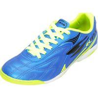 Chuteira Futsal Dray 362Co Azul-Preto