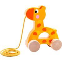 Brinquedo De Puxar Tooky Toy Girafa Amarelo