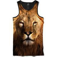 Camiseta Bsc Regata Lion Full Print - Masculino-Preto