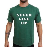 Camiseta Mma Shop Nunca Desista - Masculino