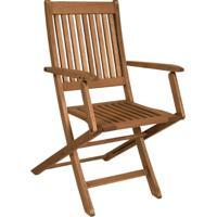 Cadeira Dobrável Ipanema Com Braços Madeira Maciça Mestra Móveis Linha Madeira