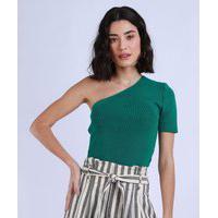 Blusa Feminina One Shoulder Um Ombro Só Verde