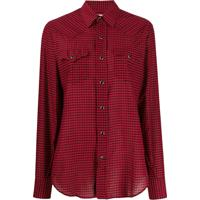 Saint Laurent Camisa Xadrez - Vermelho