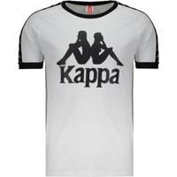 Camiseta Kappa Authentic Due Due - Masculino-Branco