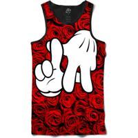 Camiseta Bsc Regata La Hand Red Rose Full Print - Masculino