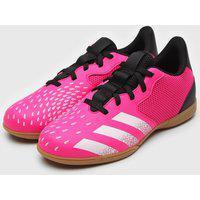 Chuteira Adidas Infantil Predator 21 4 Salão Jr Rosa