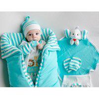 Saída De Maternidade Sônia Enxovais Menino Baby Safari Com Porta Bebê Tiffany