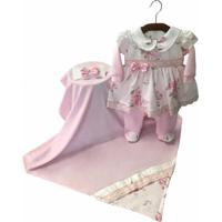 Saída Maternidade Boneca Asas De Anjo Rosa Bb