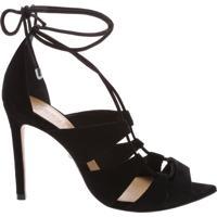 Sandália Bico Folha Lace-Up Black | Schutz