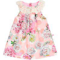Vestido Floral Com Rendinha Ref.5061 - Sonho De Nenê-Rosa-G