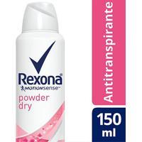 Rexona Desodorante Aerosol Antitranspirante Powder Dry Feminino 150Ml - Feminino-Incolor