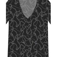 Blusa Estampada Cordão Tecido Jerome - Lez A Lez