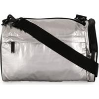 Y-3 Small Logo Print Gym Bag - Prateado