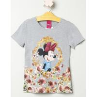Blusa Minnie® & Flores - Cinza Claro & Amareladisney