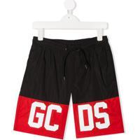 Gcds Kids Short Color Block Com Logo - Preto