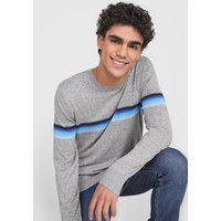 Suéter Tricot Gap Listras Cinza/Azul