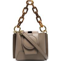 Yuzefi Daria Chunky Chain Crossbody Bag - Cinza