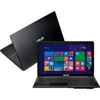 "Notebook Asus X552Ea-Sx088H - Preto - Amd E1-2100 - Ram 2Gb - Hd 500Gb - Tela De Led 15.6"" - Windows 8"