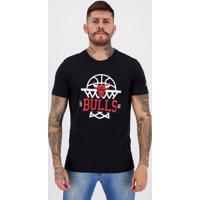 Camiseta New Era Nba Chicago Bulls Essentials Preta