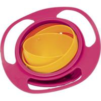 Prato Giro Bowl - Pink & Laranja- 7Xã˜17Cm - Bubabuba