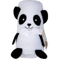 Manta Panda Fleece- Preta & Branca- 78X120Cm- Lelepper