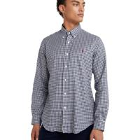 Camisa Ralph Lauren Poplin Custom Fit Blue