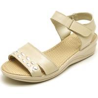 Sandália Gh Calçados Conforto Marfim