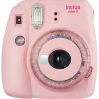 Câmera Instantânea Fujifilm Instax Mini 9 Selfie Rosa Chiclé