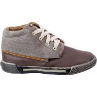 Tênis Infantil Sneakers New Bibi - Masculino-Marrom