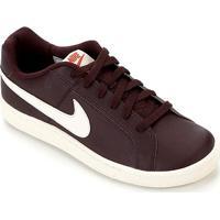 Tênis Couro Nike Court Royale Masculino - Masculino-Bordô