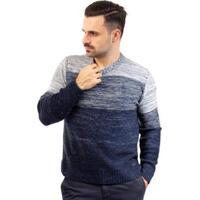 Blusa De Malha Gola Redonda Sumaré Masculina - Masculino-Azul