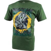 Camiseta Mks Nations Brazilian Jiu Jitsu Verde