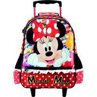 Mochila Com Rodas Infantil Escolar Magic Bow - Minnie - Vermelho - Menina - Dafiti