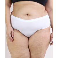 Calcinha Trifil Plus Size Caleçon Modeladora Branca
