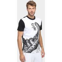 Camiseta New Era Mlb Luva Chicago White Sox - Masculino-Branco+Preto