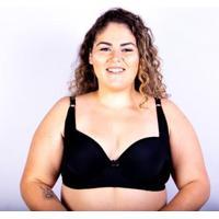 Sutiã Bojo Plus Size Gatria Reforçado Feminino - Feminino-Preto
