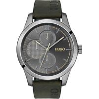 Relógio Hugo Boss Masculino Couro Verde - 1530084