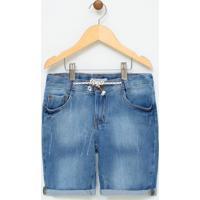 Bermuda Infantl Em Jeans - Tam 5 A 14