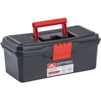 Caixa Para Ferramentas 12.1/2'' Em Polipropileno 13X15X33Cm Preto E Vermelho