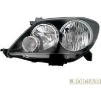 Farol - Tyc - Hilux Sw4 2005 Até 2008 - 4 Portas - Mascara Negra - Lado Do Motorista - Cada (Unidade) - 15135