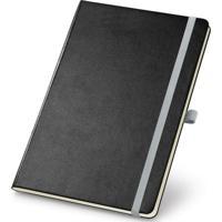 Caderneta De Anotações 13,7X21Cm 80 Folhas Sem Pauta Preto E Cinza
