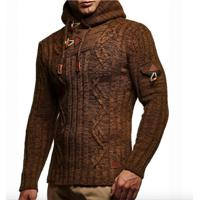 Cardigan Masculino Knit Button - Marrom P