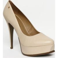 1f0a23f97d Sapato Meia Pata Em Couro Com Tag - Nude - Salto  13Lança Perfume